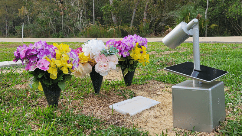 An AFTR GroundCam placed at a resting place